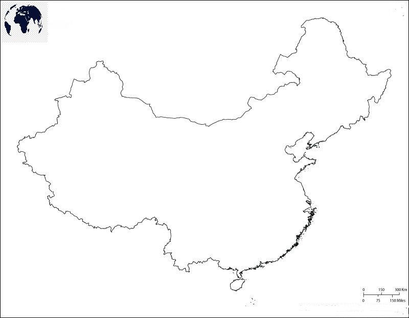 Blank-Map-of-China-–-Outline