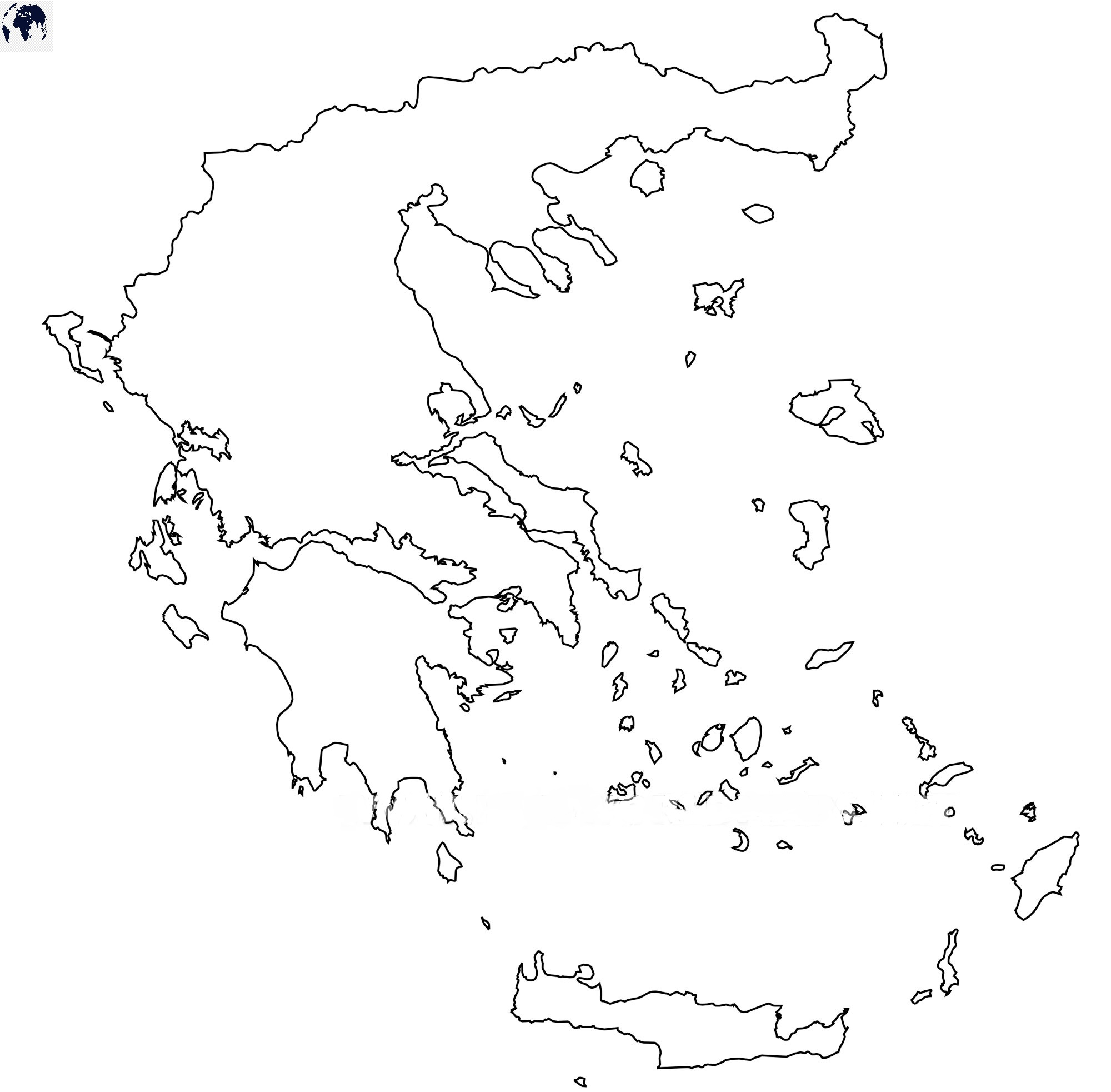 Blank Map of Greece - Outline