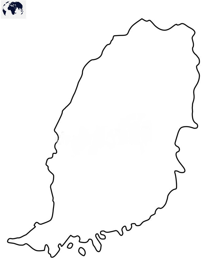 Blank-Map-of-Grenada-Outline