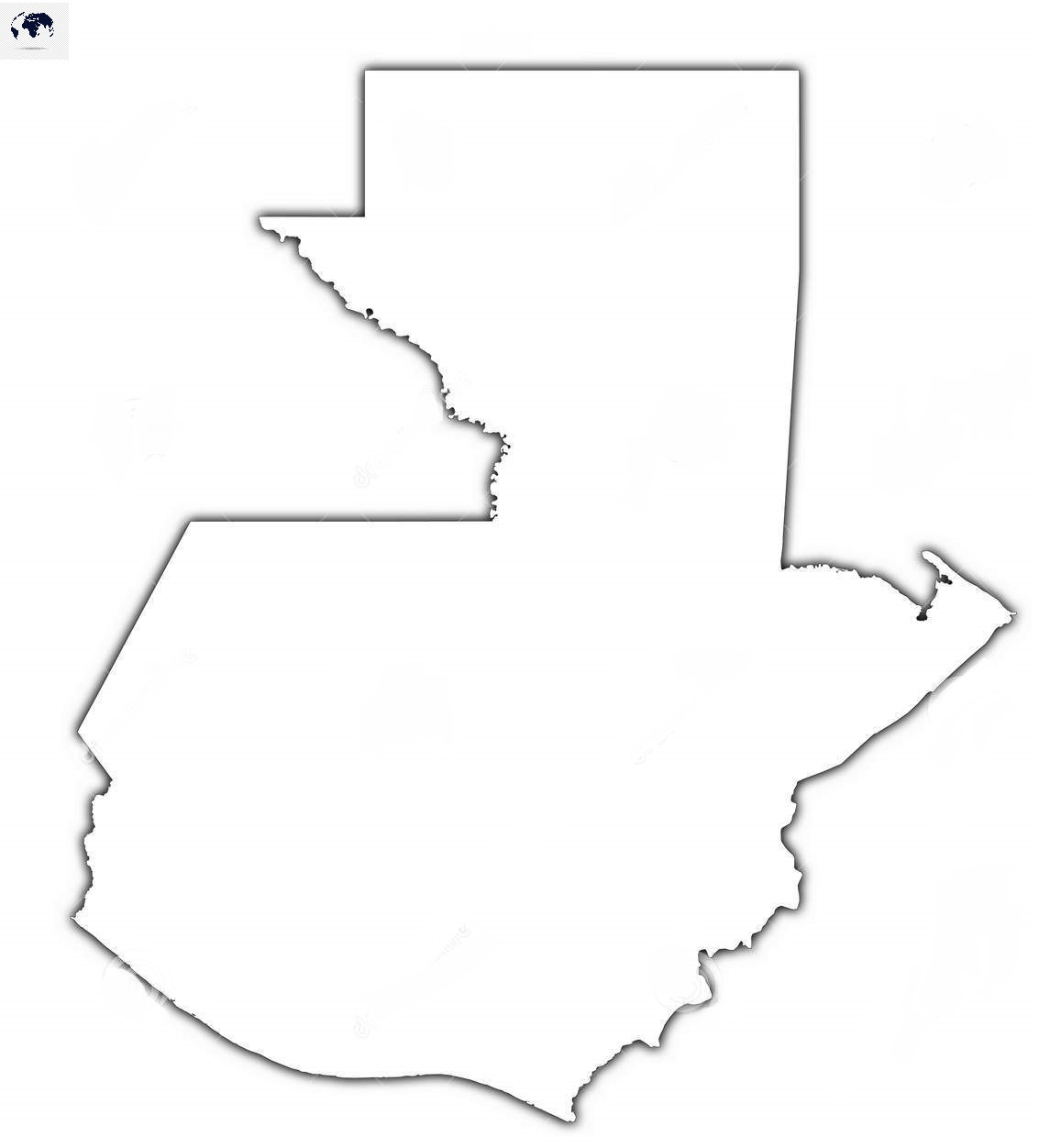 Blank-Map-of-Guatemala-–-Outline