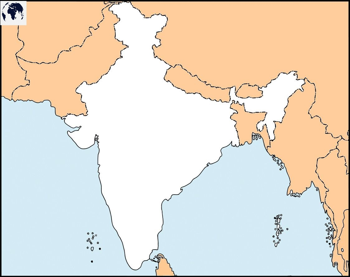 Blank-Map-of-India-–-Outline