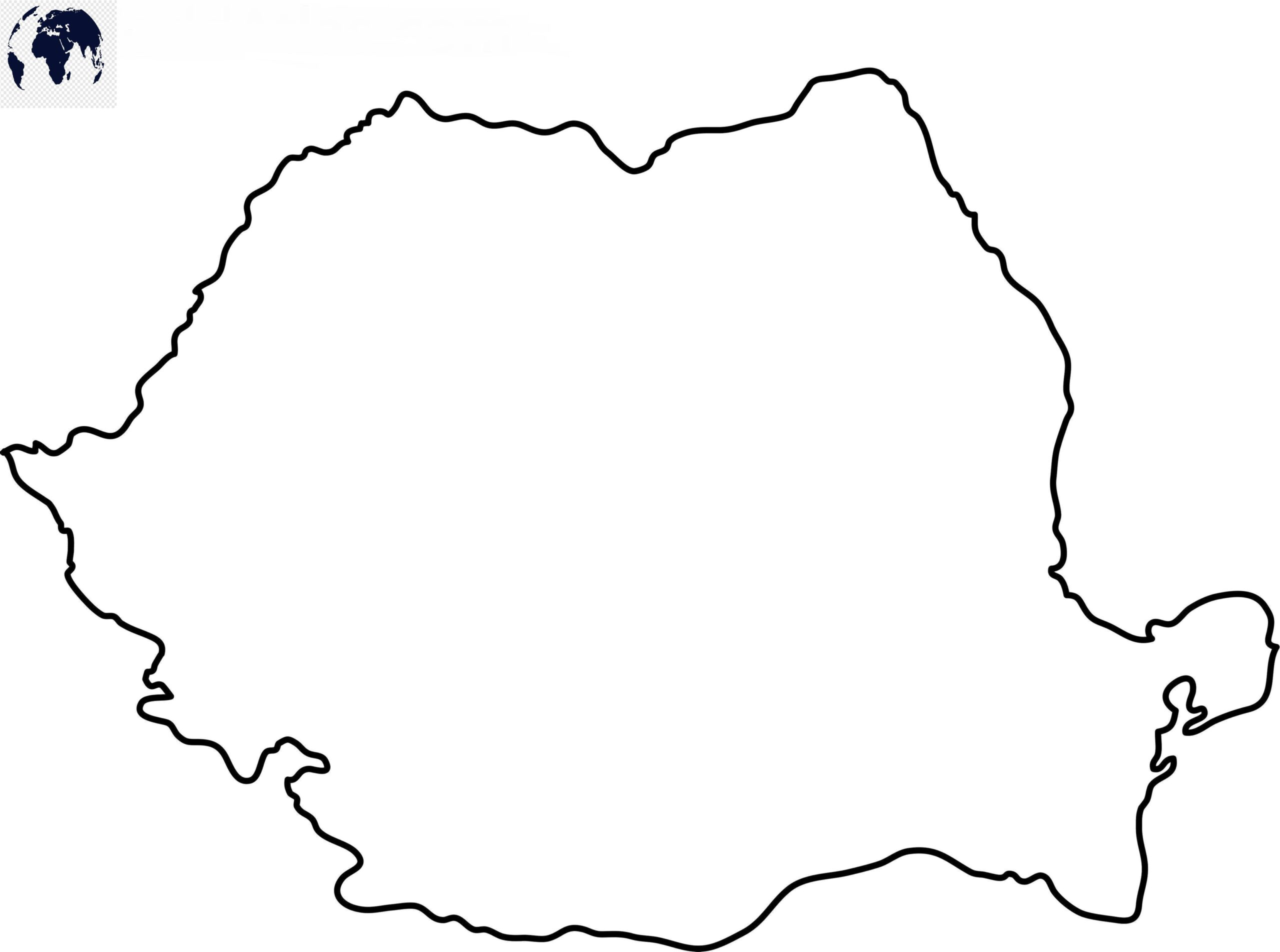 Blank Map of Romania – Outline