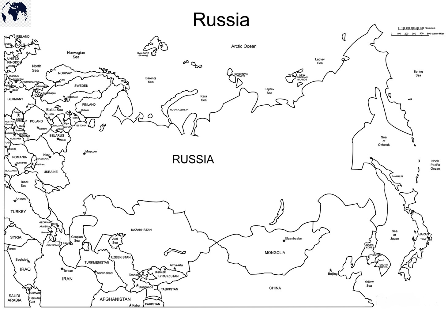 Blank-Map-of-Russia-–-Outline