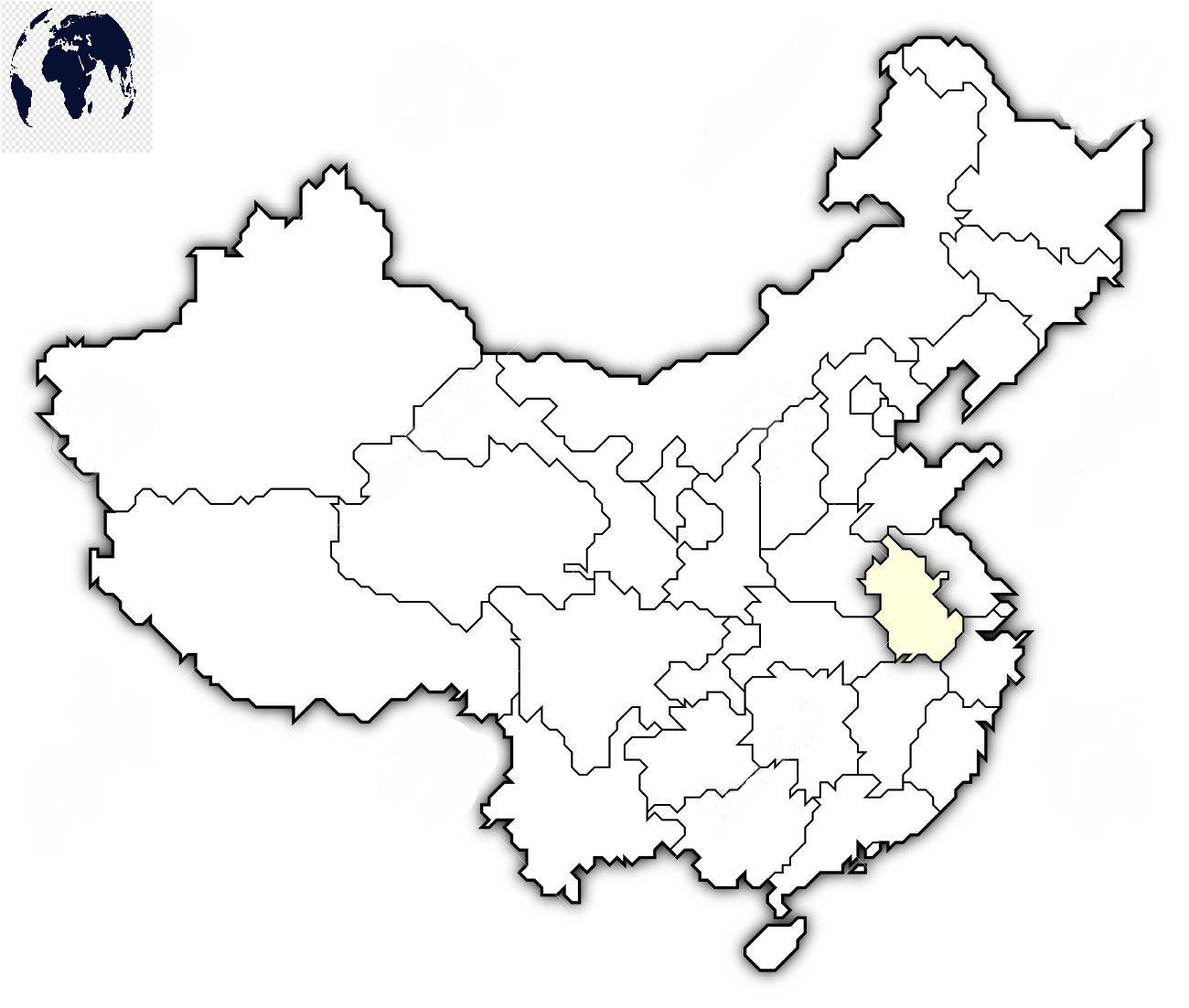 Map-of-China-for-Practice-Worksheet