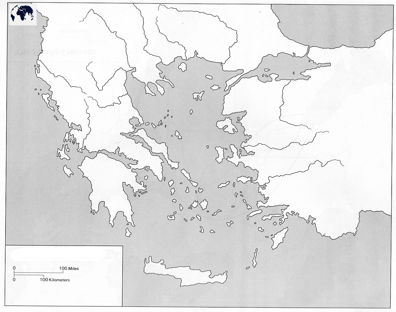 Map of Greece for Practice Worksheet