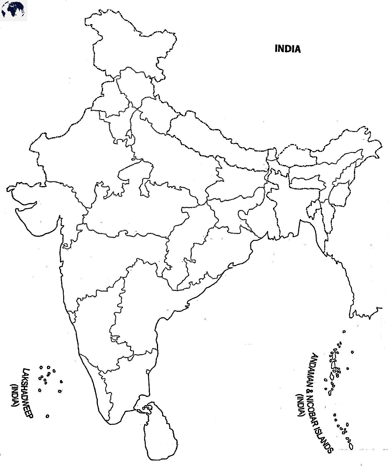Map-of-India-for-Practice-Worksheet
