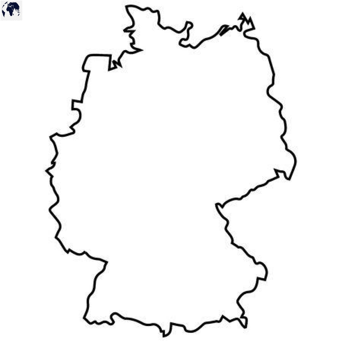 Transparent PNG Germany Map