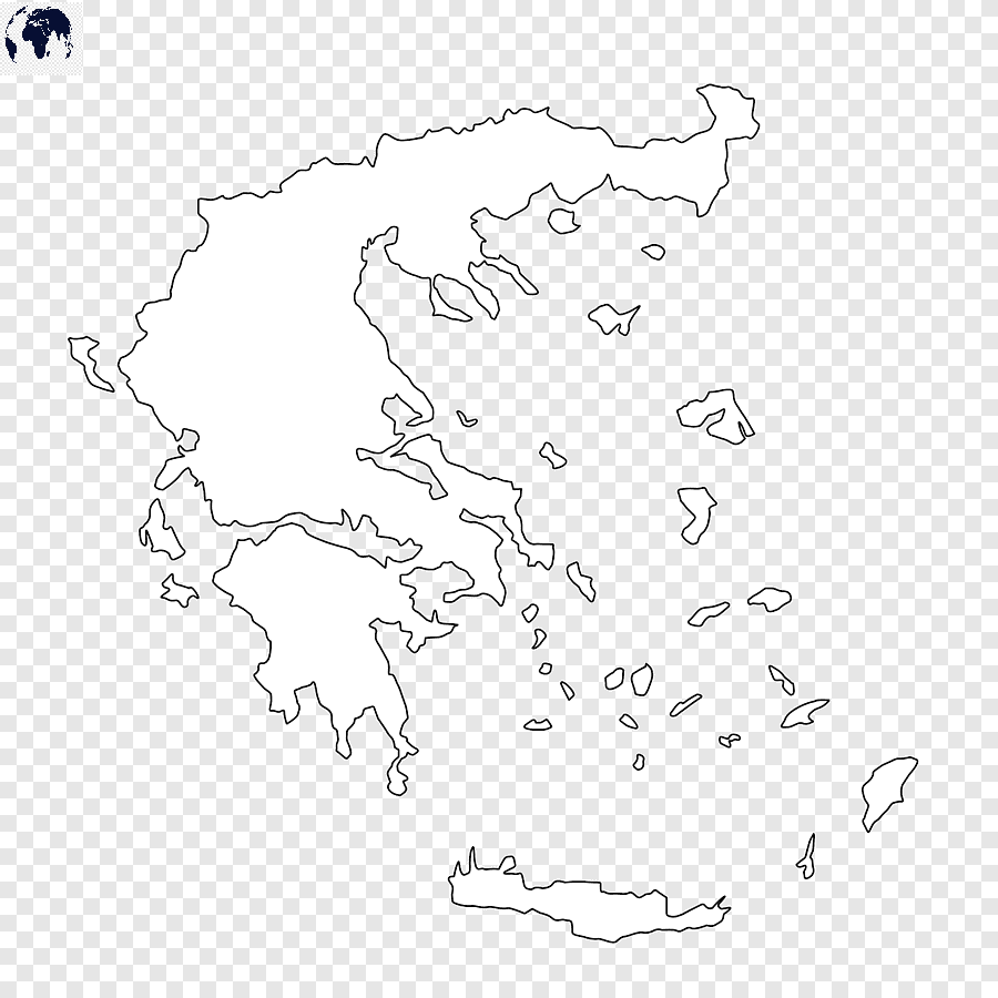 Transparent PNG Greece Map