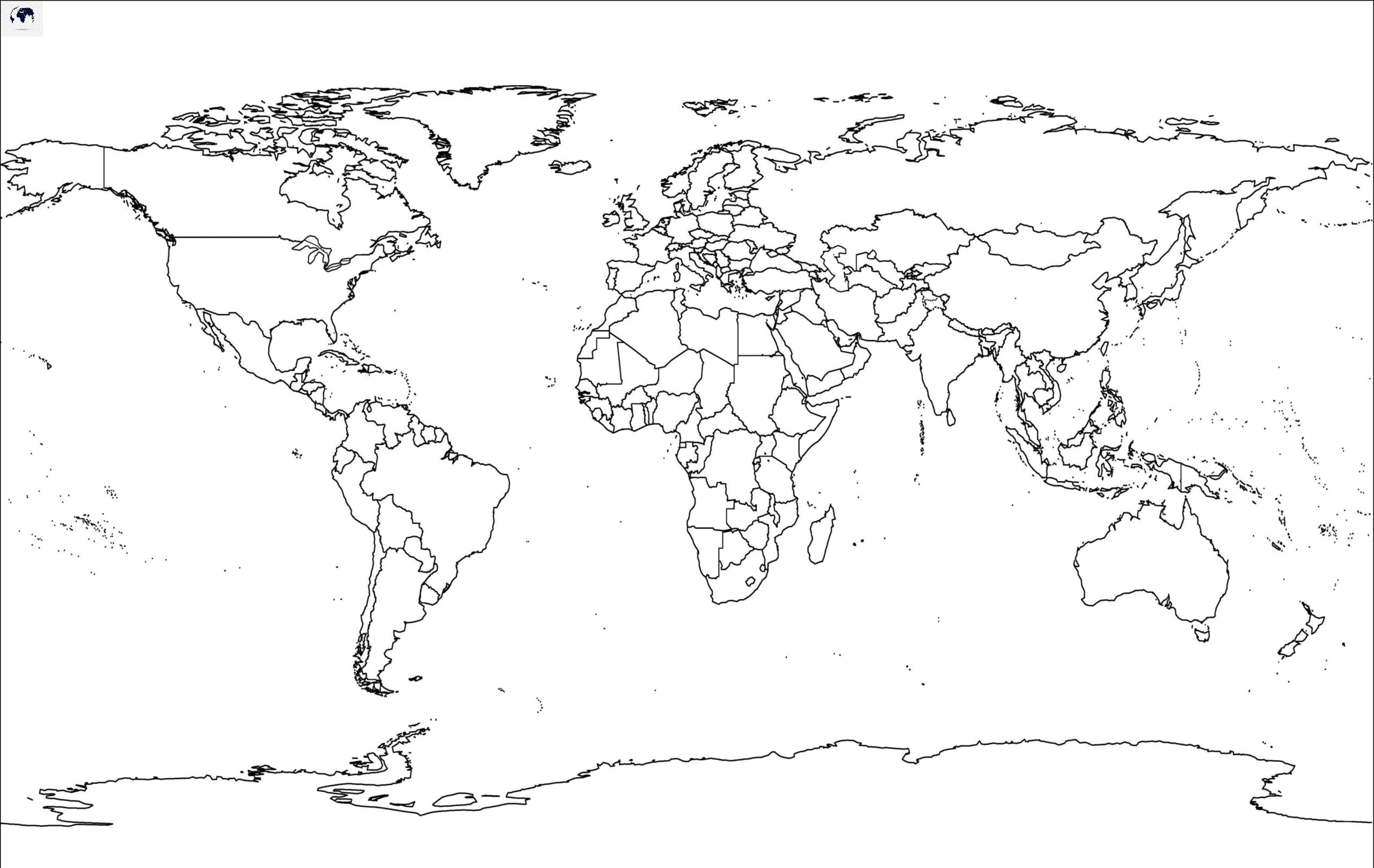 Transparent PNG World Map