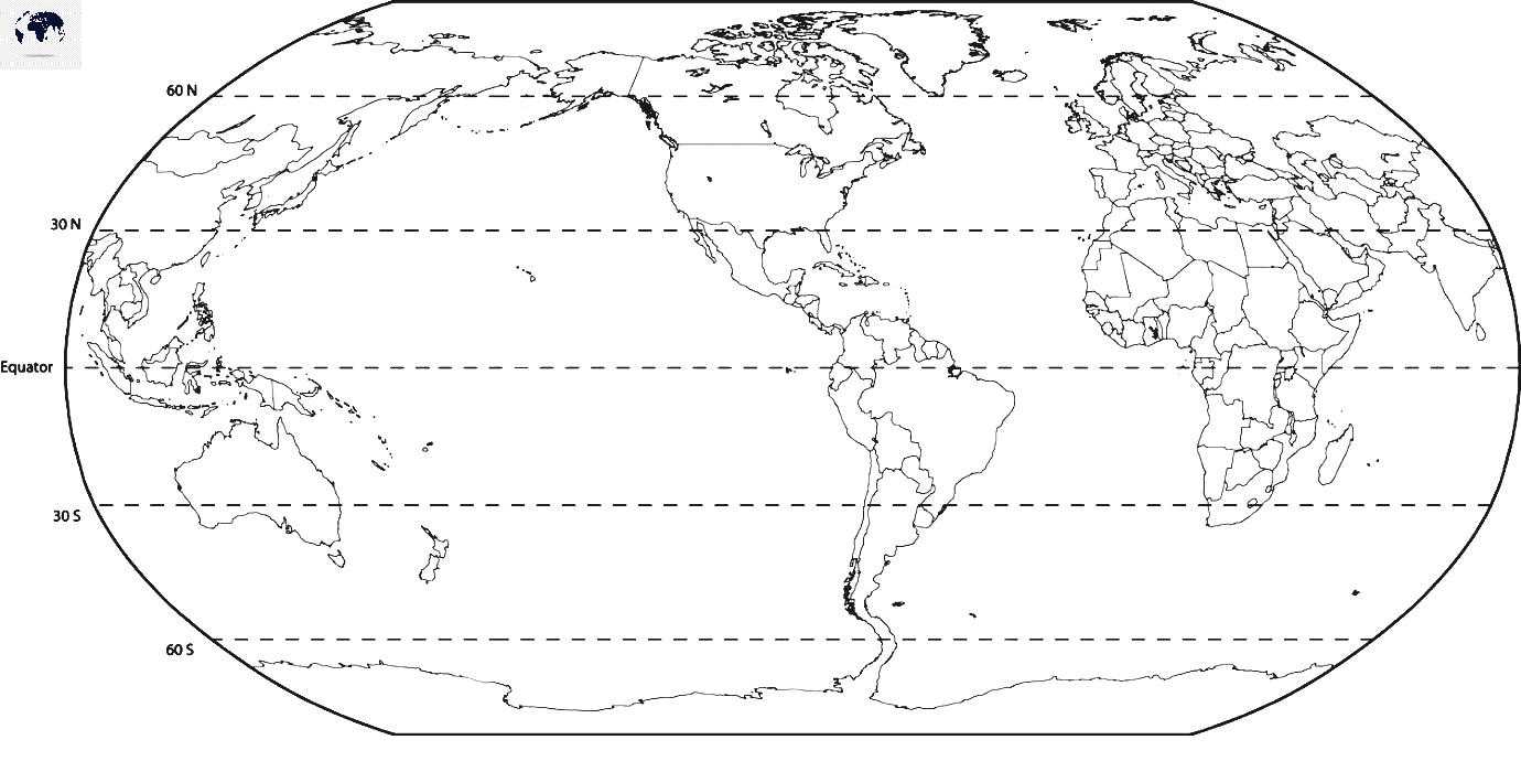 World Map with Equator