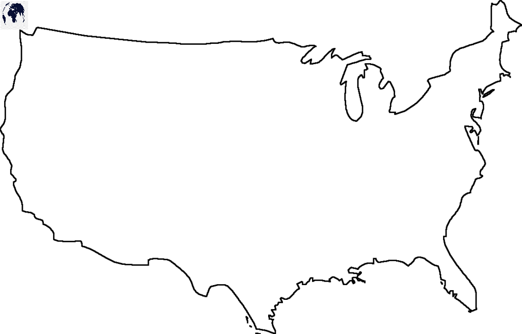 Blank Map of America - Outline