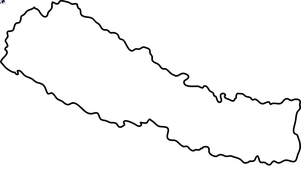 Blank Map of Nepal - Outline