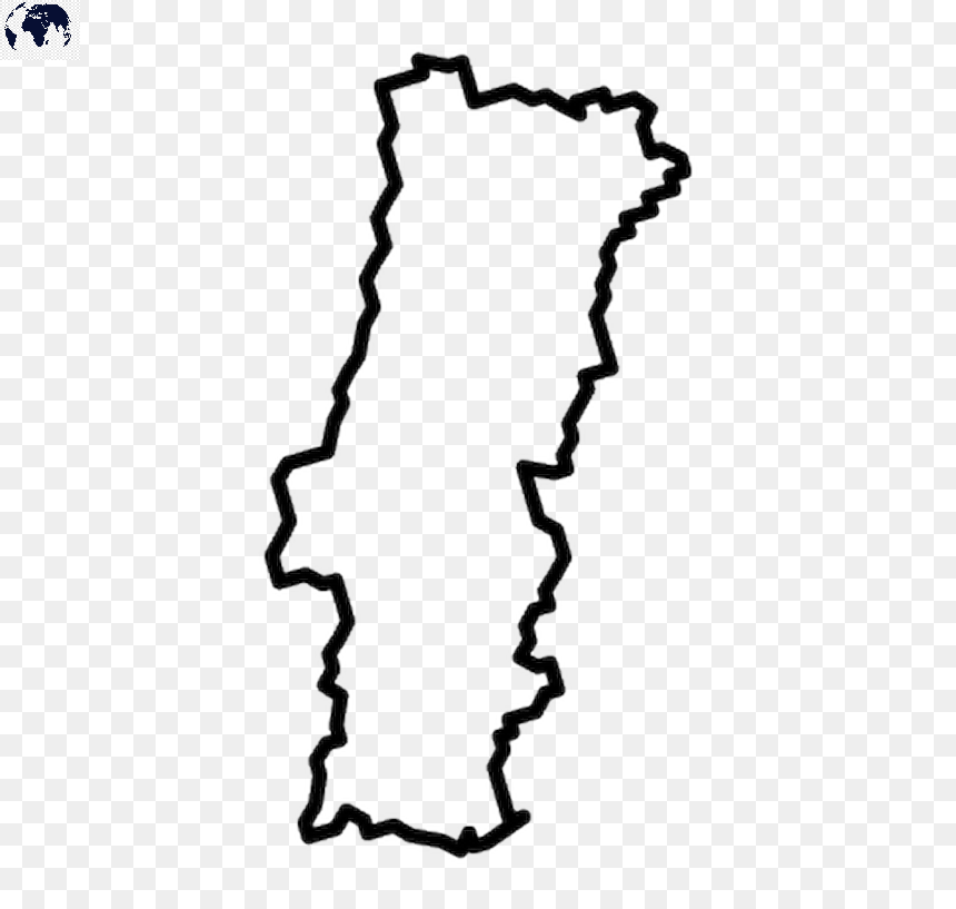 Blank Map of Portugal - Outline