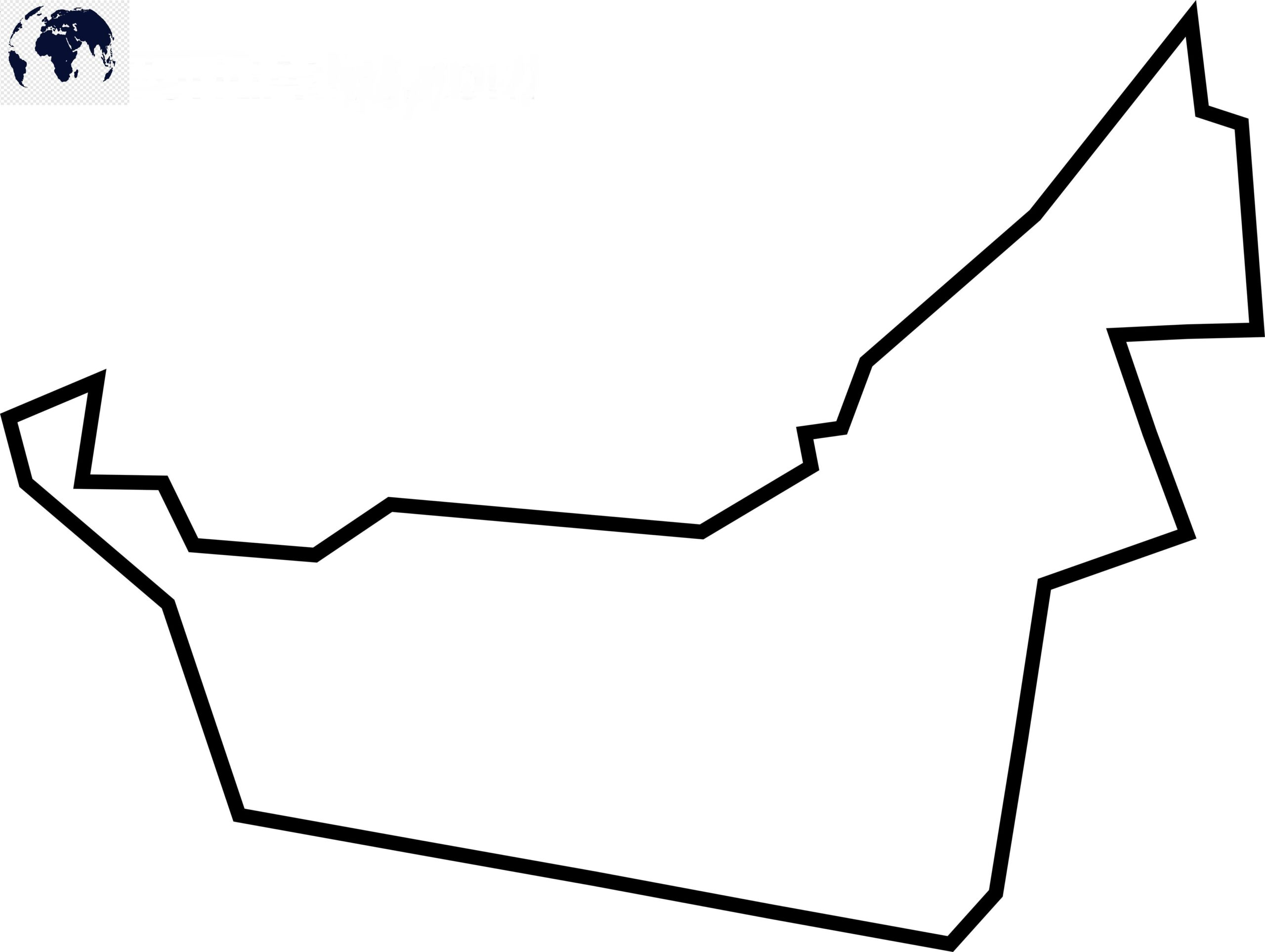 Blank Map of United Arab Emirates - Outline