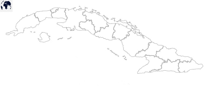 Map of Cuba for Practice Worksheet