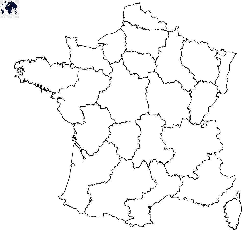 Map of France for Practice Worksheet