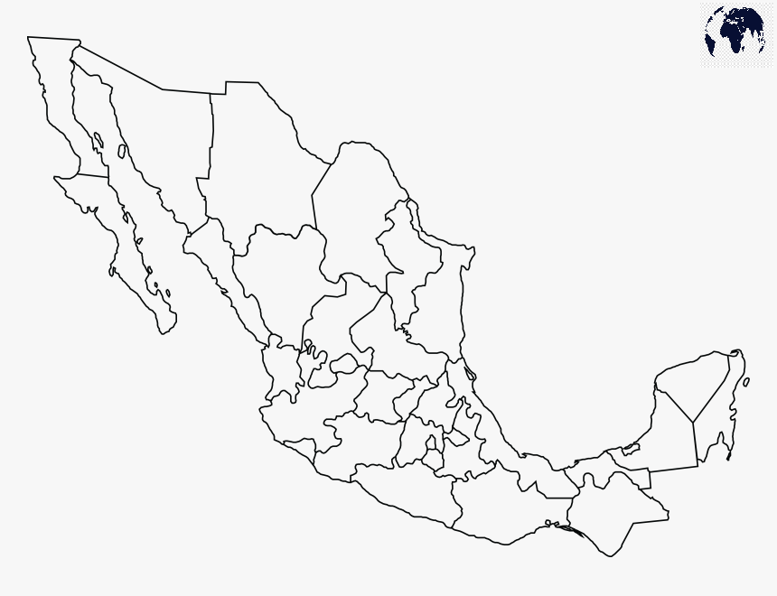 Map of Mexico for Practice Worksheet