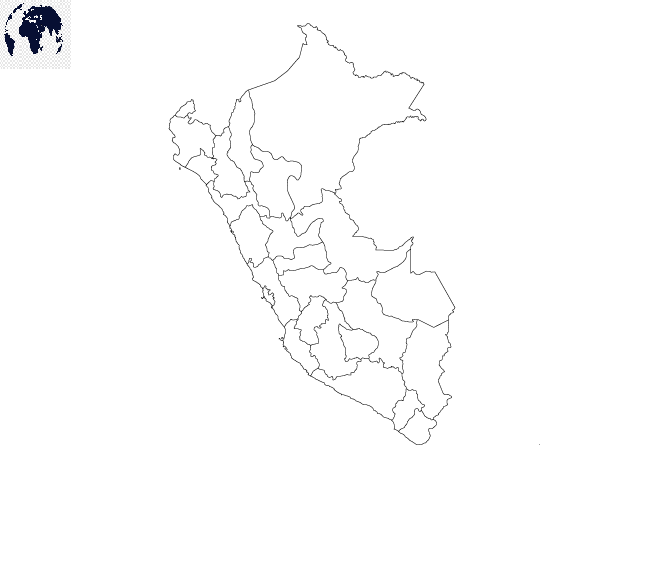 Map of Peru for Practice Worksheet