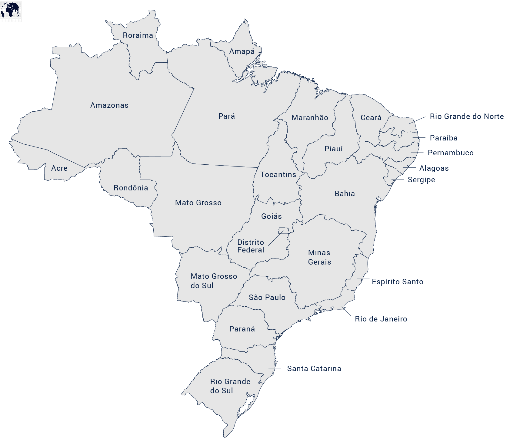 Printable Map of Brazil