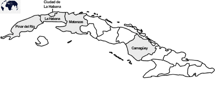 Printable Map of Cuba