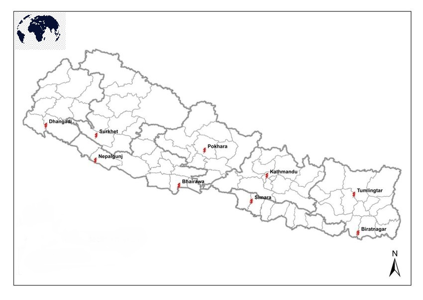 Printable Map of Nepal