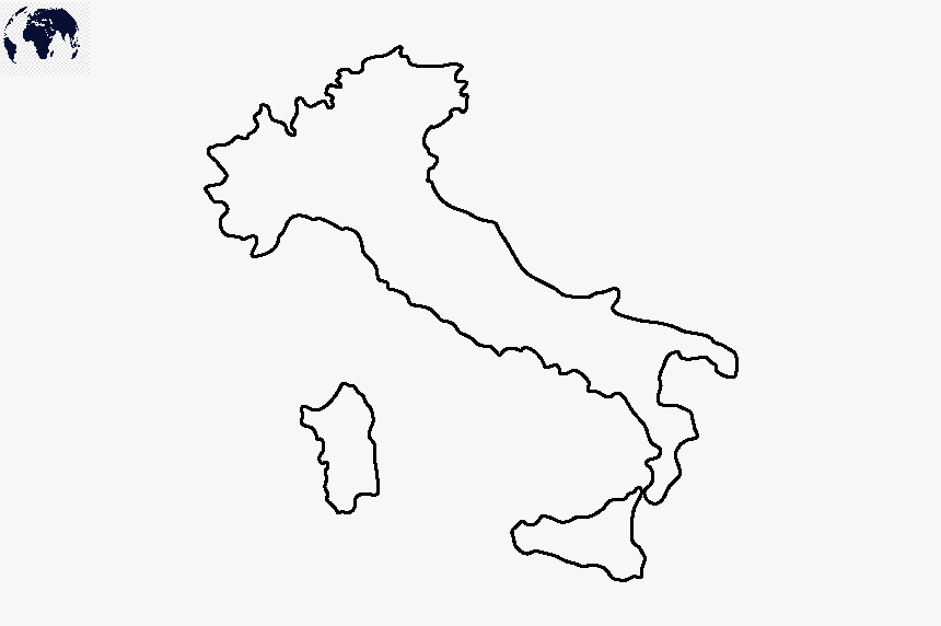 Transparent PNG Italy Map