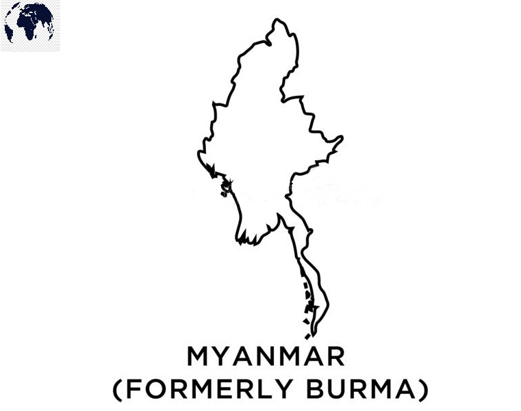 Transparent PNG Myanmar Map