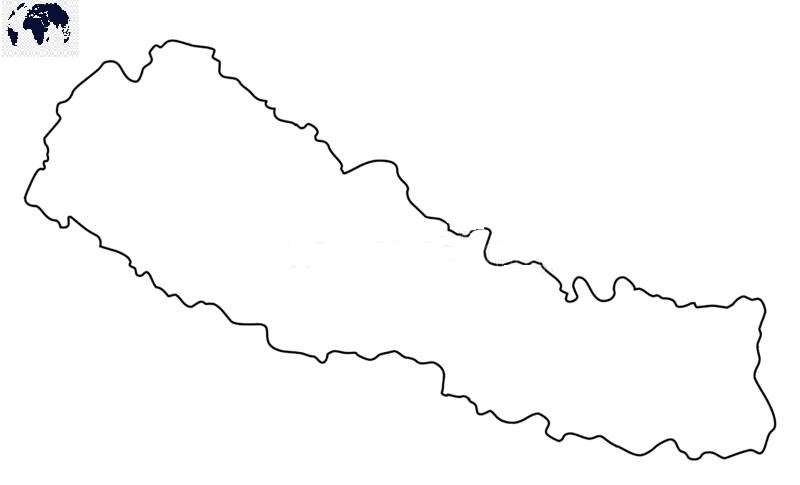 Transparent PNG Nepal Map