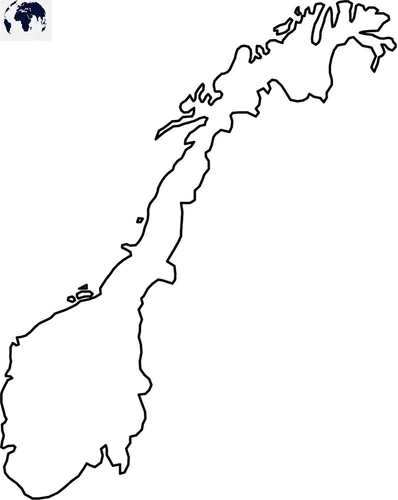 Transparent PNG Norway Map