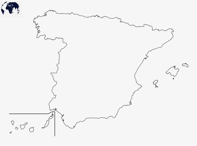 Transparent PNG Spain Map