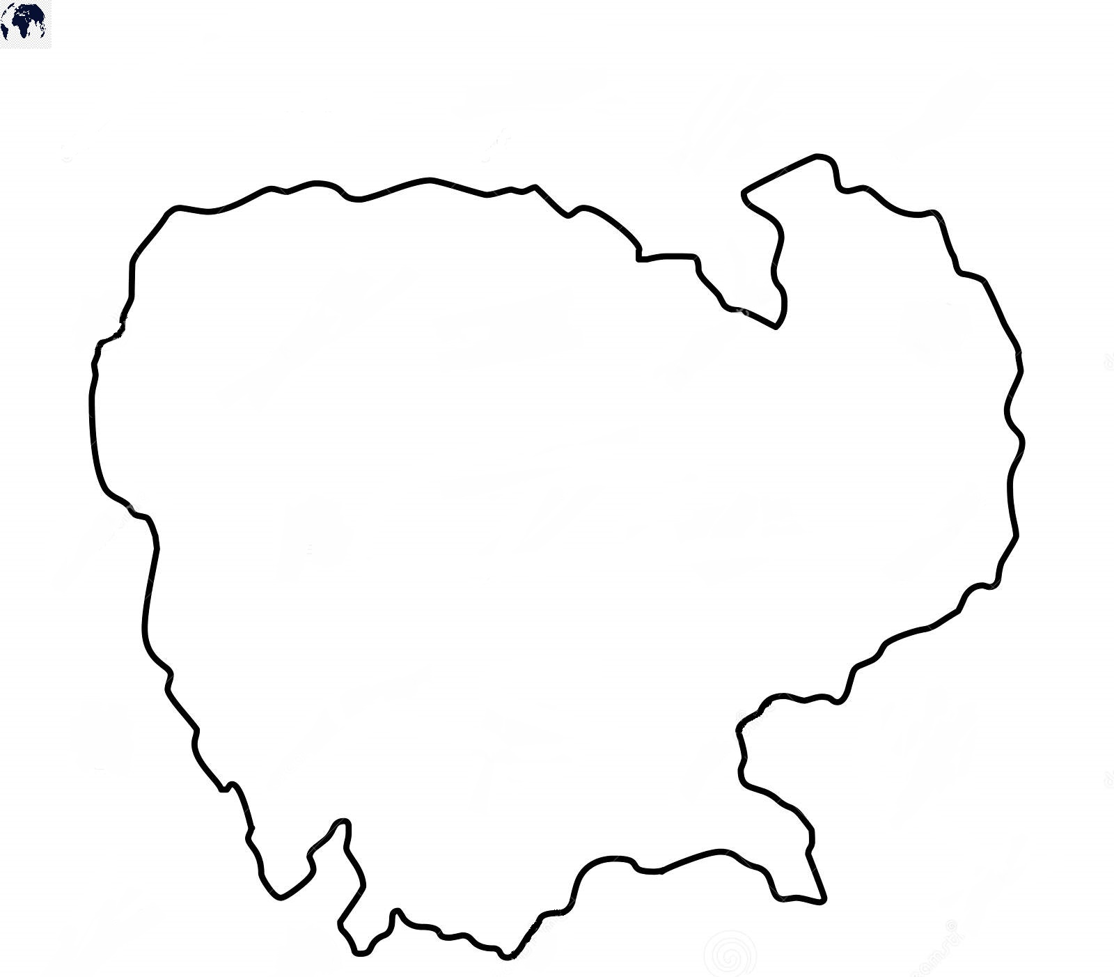 Blank Map of Cambodia - Outline