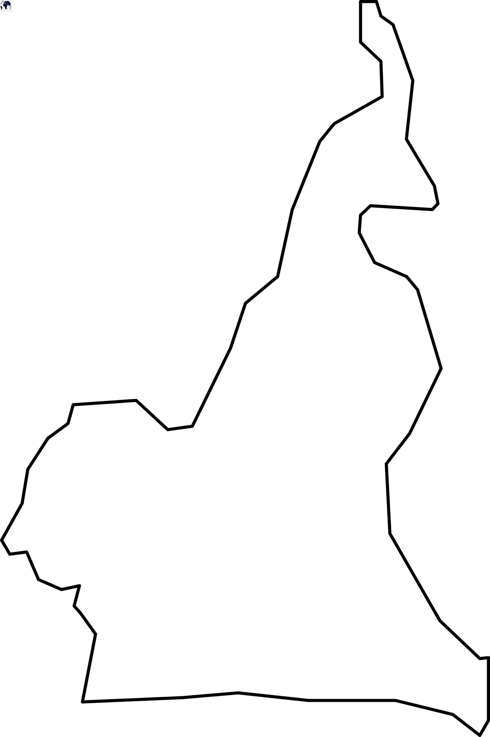 Blank Cameroon Map - Outline
