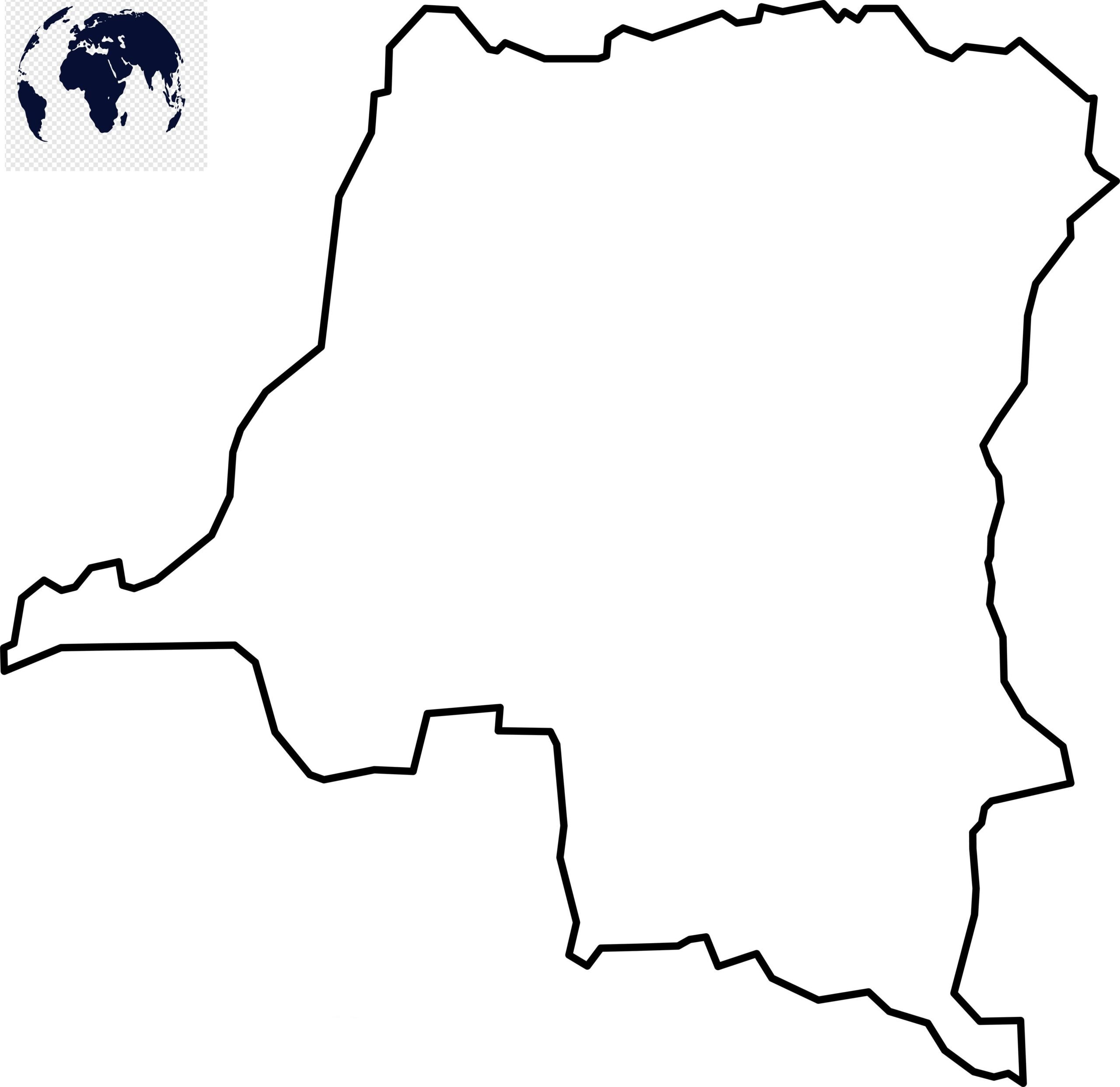 Blank Map of Congo - Outline