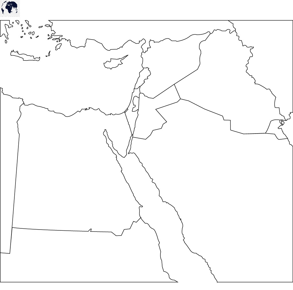 Blank Map of Egypt - Outline