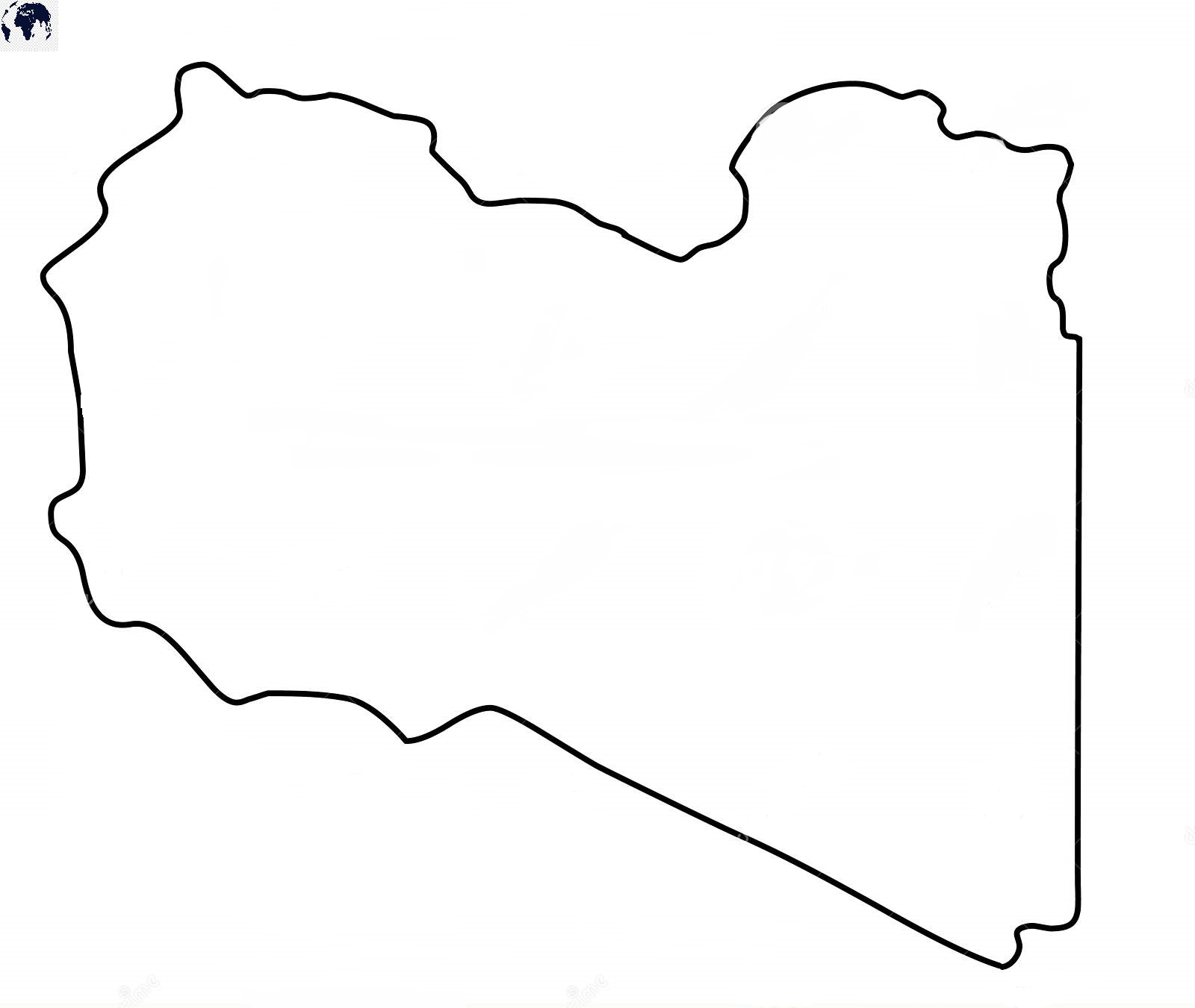 Blank Libya Map - Outline
