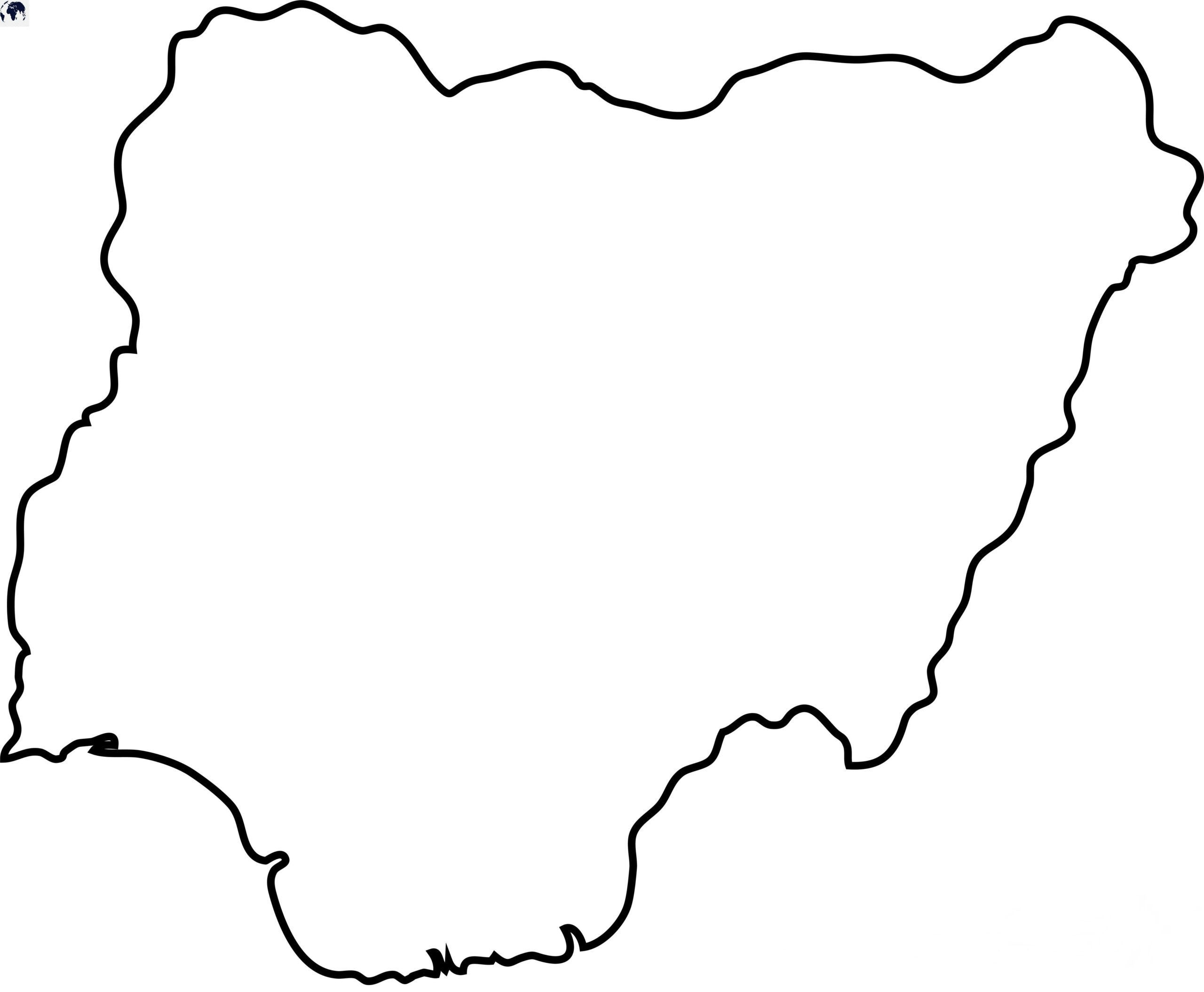 Blank Map of Nigeria - Outline