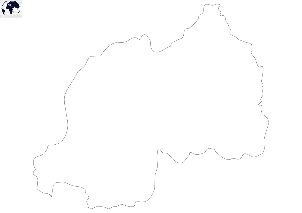 Blank Map of Rwanda - Outline