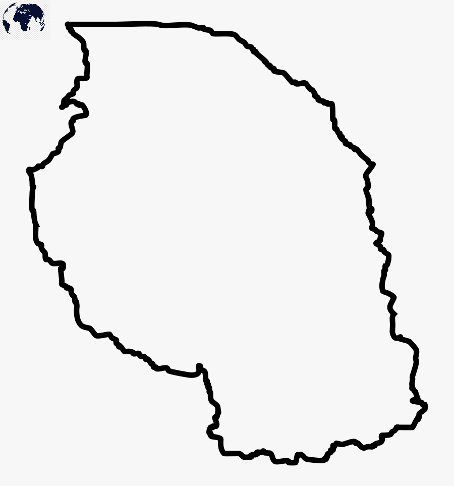 Blank Map of Tanzania - Outline