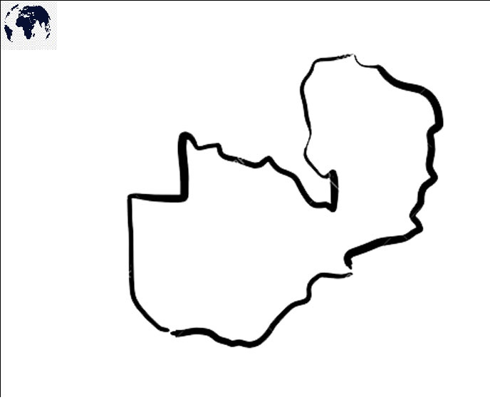 Blank Map of Zambia - Outline