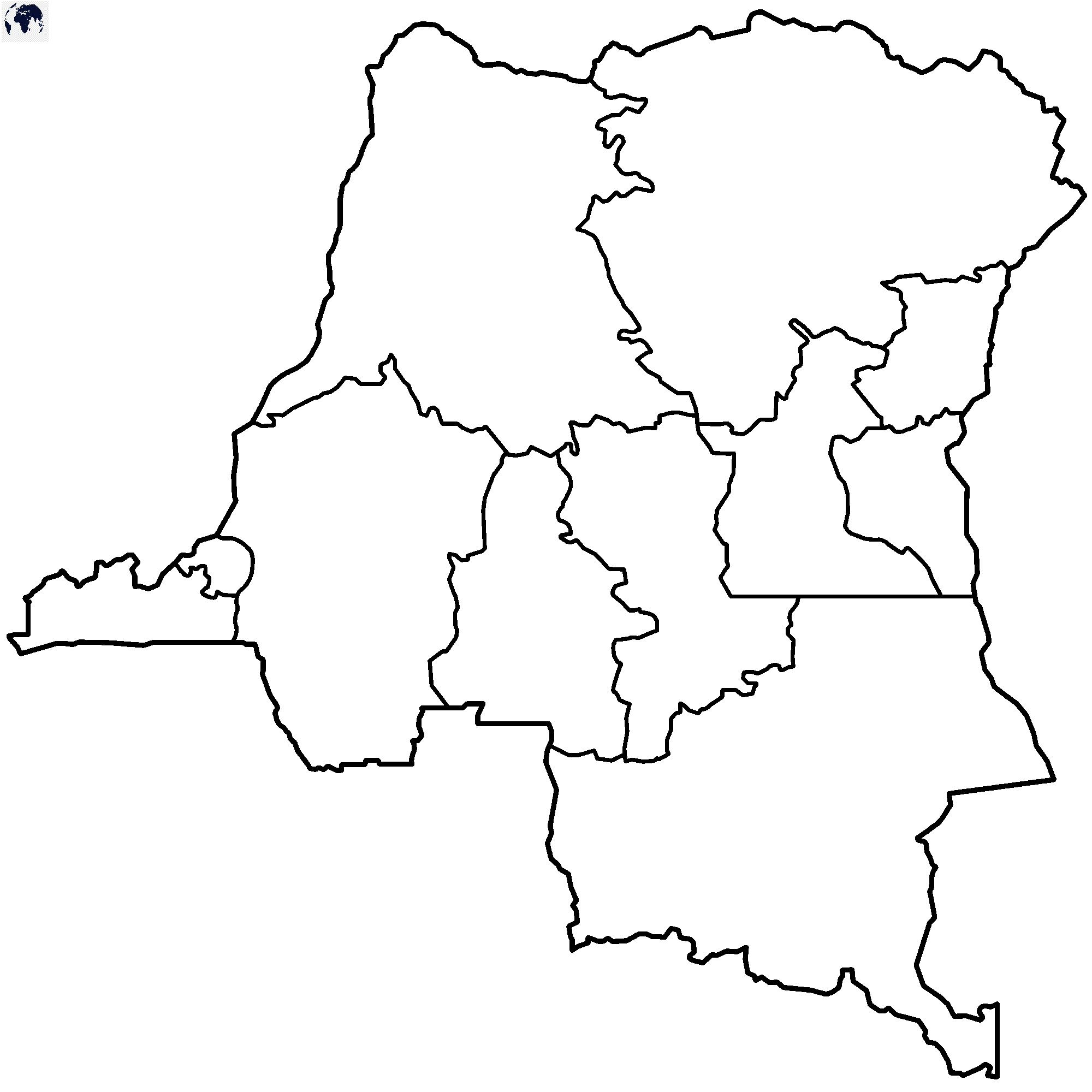 Map of Congo for Practice Worksheet