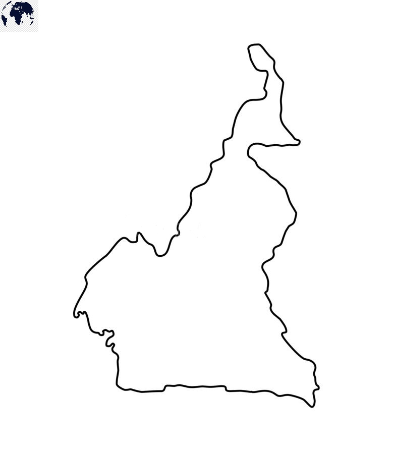Transparent PNG Cameroon Map