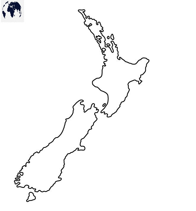 Transparent PNG New Zealand Map
