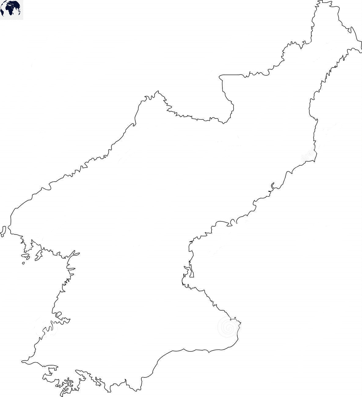Transparent PNG North Korea Map