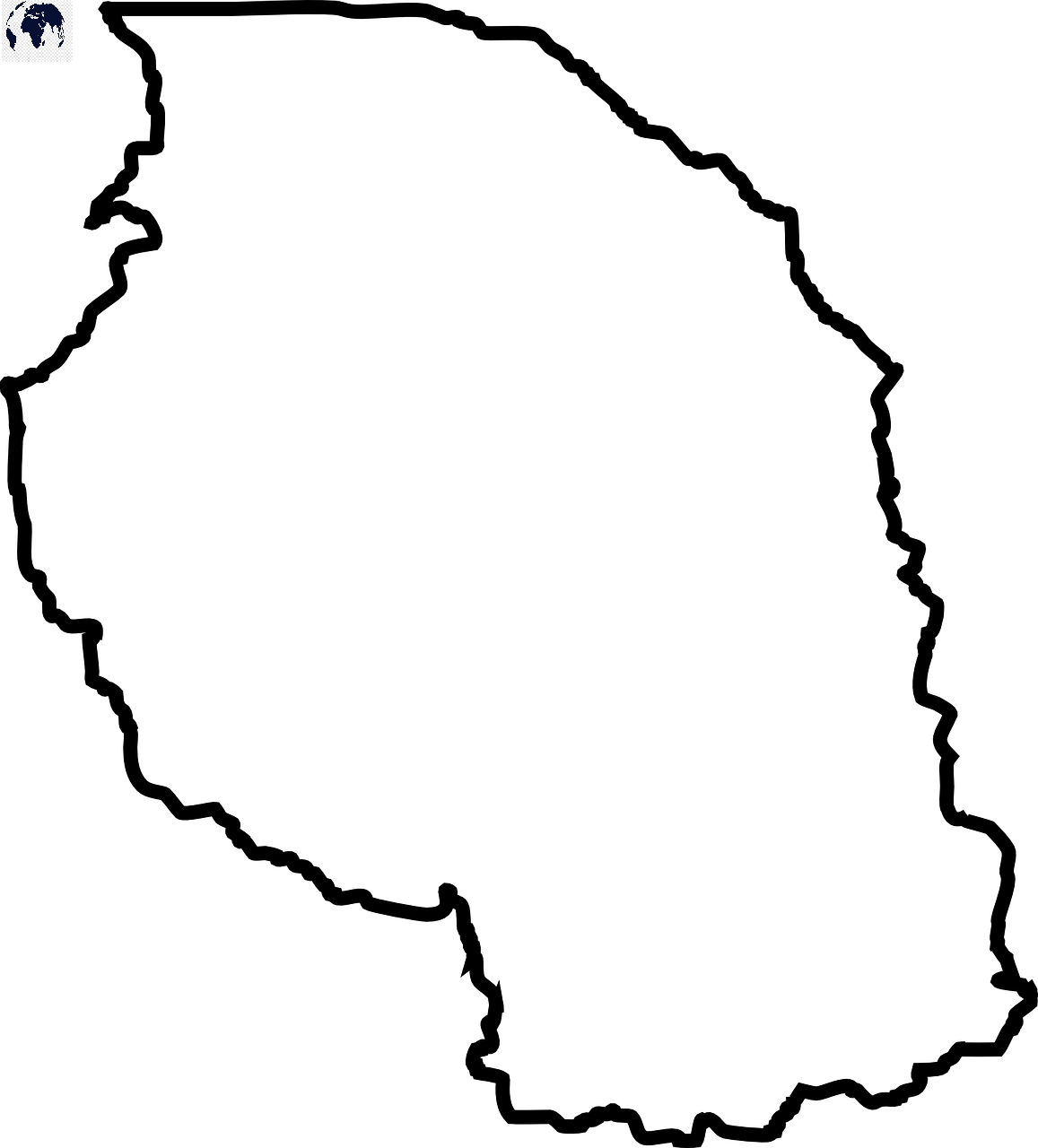 Transparent PNG Tanzania Map