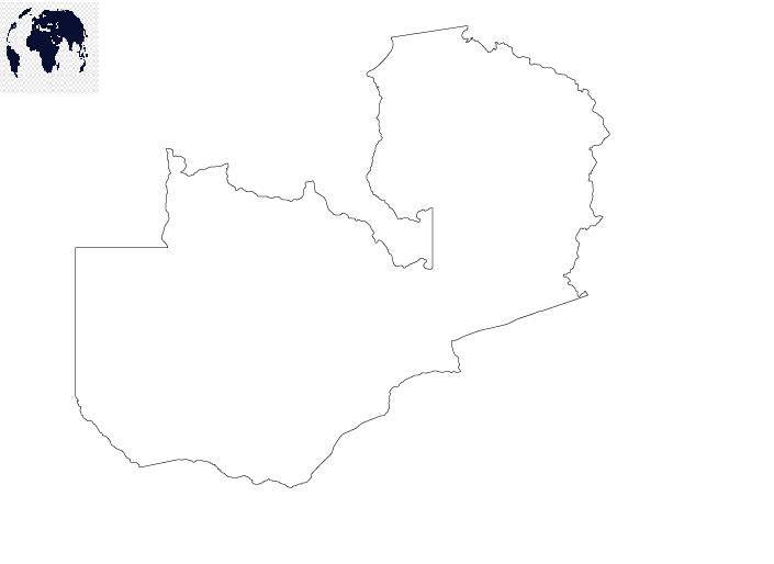 Transparent PNG Zambia Map