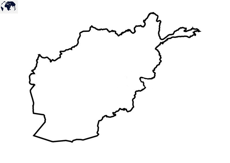 Blank Afghanistan Map – Outline