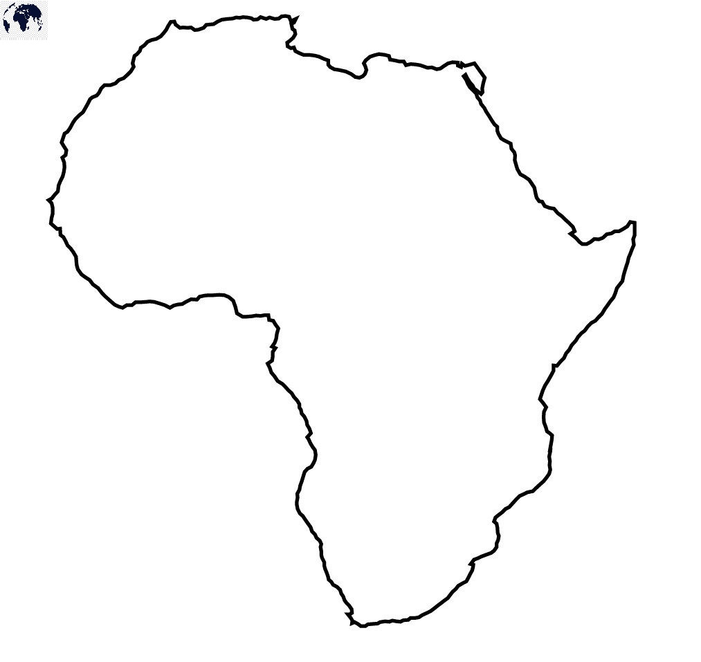 Blank Africa Map – Outline