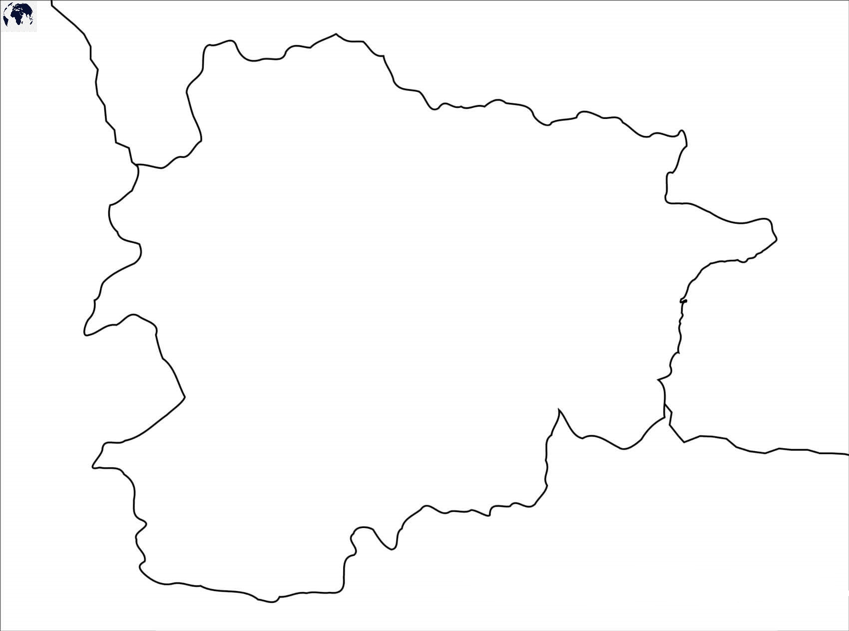 Blank Andorra Map – Outline