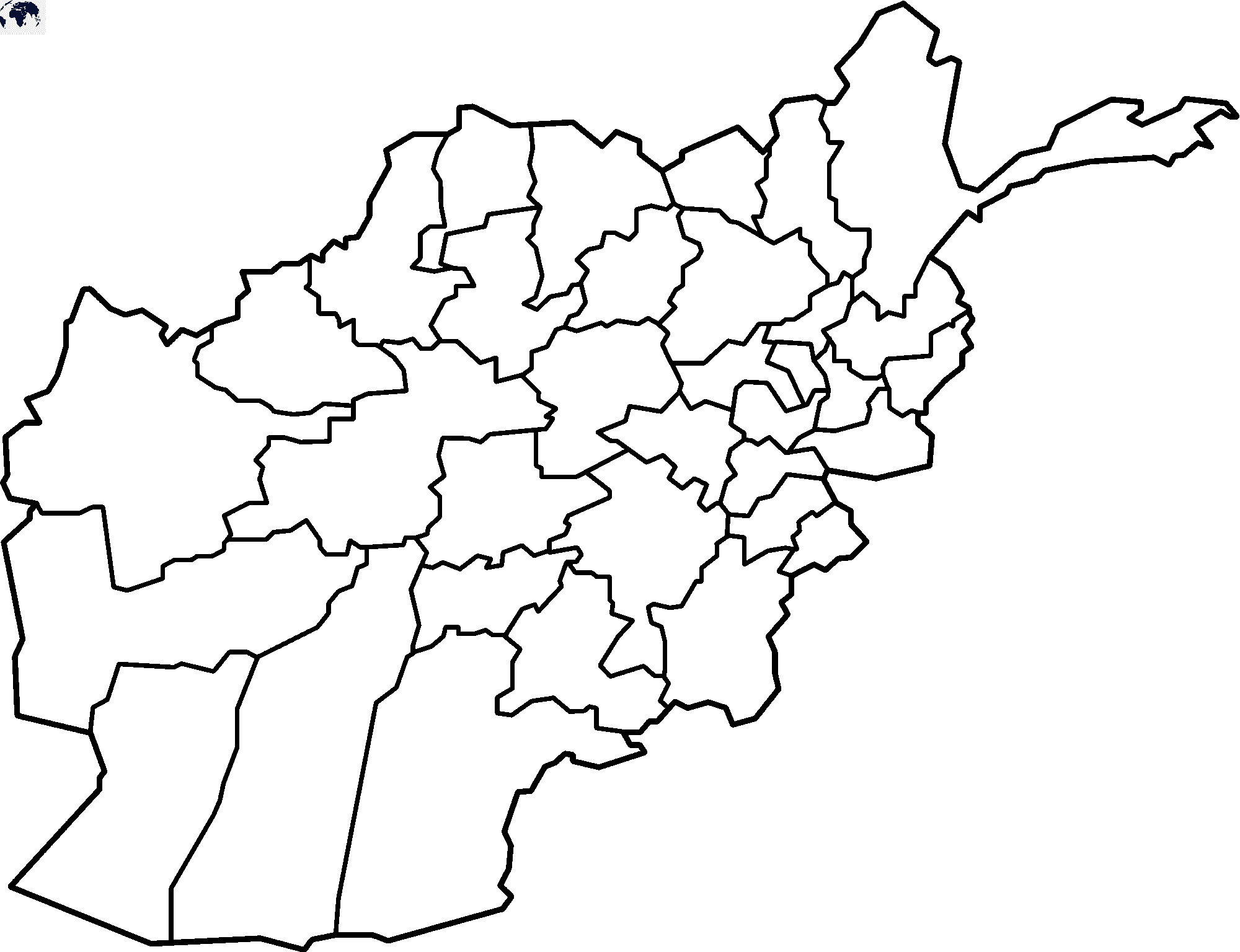 Map of Afghanistan for Practice Worksheet