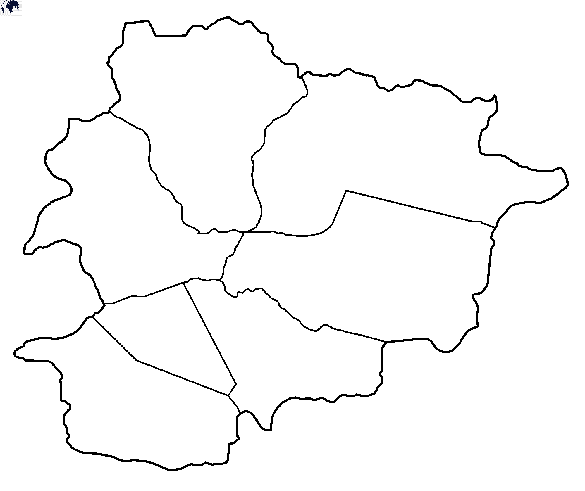 Map of Andorra for Practice Worksheet